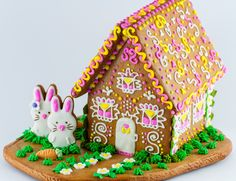 GINGERBREAD HOUSE~Easter gingerbread house