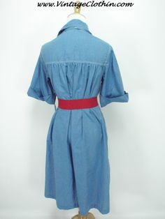 1970s does 1950s Buzz About by Rosemary Long A Line Denim Dress #1970sdress #vintagedress #1950sdress #1970 #1970s #1950 #1950s #Dress #vintagedress #vintageclothes #vintageshop #vintagestore #vintageclothing #vintageclothin #vintagewear #vintage #dressvintage #vintageclothin.com #vintageshopping #retro #retrodress #retroclothes #retroclothing #vintagefashion #forsale #buyme #denim #blue #vintageseller #pinup #BuzzAbout #RosemaryLong #Dress #buzzaboutdress #rosemarylongdress