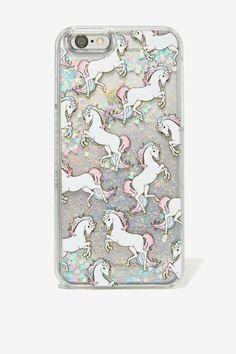 Skinnydip London Glitter Unicorn iPhone 6 Case