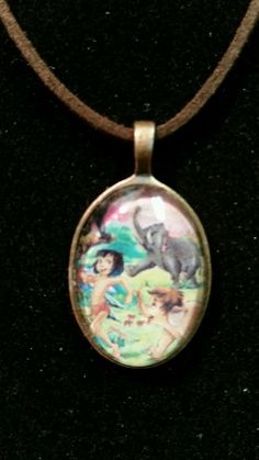 DISNEY'S Jungle Book Handmade Necklace ♡ glass tile♡ cute in Jewelry & Watches   eBay