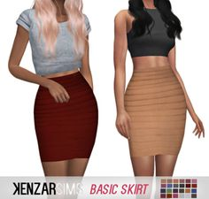 Kenzar Sims: Basic skirts • Sims 4 Downloads