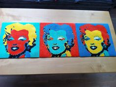 Marilyn Monroe (Andy Warhol) hama beads by ViktorM