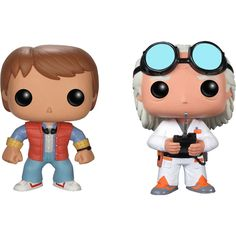 Funko - Back to the Future Pop! Movie Vinyl Collectors Set: Doc Emmet Brown & Marty McFly - Multi