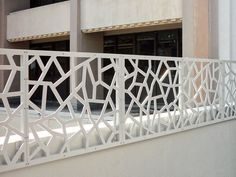 WEB, custom project CA. outdoor decorative screen railing
