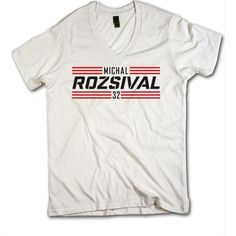 Michal Rozsival Striped Red Font