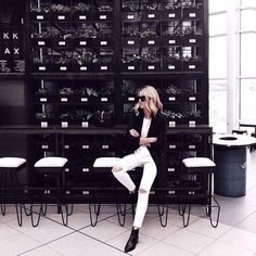 Monochrome perfection with Acne Jensen Boots.