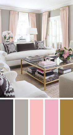 8 υπέροχες χρωματικές παλέτες για το καθιστικό! Κάντε το σαν επαγγελματίες!