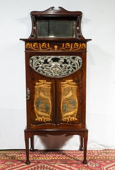 19th Century Mahogany Music Cabinet.(liberty) - Antiques Atlas