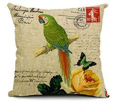East Melody® Cotton Linen Square Decorative Throw Pillow Cover Cushion Case Pillow Case 18 X 18 Inches / 45 X 45 cm, Small Fresh Garden Parrot (parrot 01) East Melody http://www.amazon.com/dp/B00UV2O0QM/ref=cm_sw_r_pi_dp_C3Lcvb00S21GW