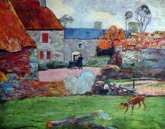 """Paul Gaughin (1848-1903) ~ """"Ferme au Pouldu"""" ~ Huile sur Toile 1890 ~ Collection Privée"""