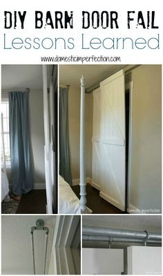 Purchasing interior barn doors is easy and there are many available options to choose from. Consider the different factors in choosing the right barn door from Closet Door Hardware, Bypass Barn Door Hardware, Barn Door Closet, Diy Barn Door, Basement Closet, Hall Closet, Sliding Door Curtains, Sliding Closet Doors, Diy Sliding Door