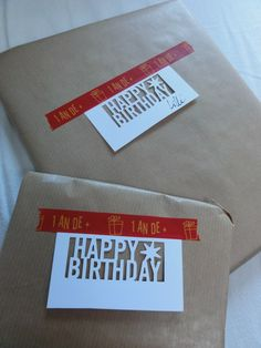 De jolis paquets cadeaux décorés de masking tape Artemio