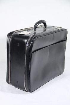 Authentic VALEXTRA Black Leather AVIETTA 48 Carry On by ciocci