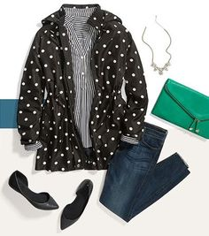 Adorable polka dot jacket from Stitch Fix.