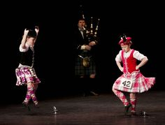 Sword dancers with piper