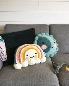 If no one is interested in this sweet rainbow, I may just keep her for myself! If no one is interested in this sweet rainbow, I may just keep her for myself! Pom Pom Crafts, Yarn Crafts, Diy And Crafts, Arts And Crafts, Handmade Home, Rainbow Punch, Embroidery Patterns, Hand Embroidery, Diy Gifts For Christmas