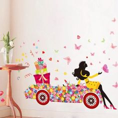SHARE & Get it FREE   Beauty Girl Flower Car PVC Removable Wall StickersFor Fashion Lovers only:80,000+ Items·FREE SHIPPING Join Dresslily: Get YOUR $50 NOW!