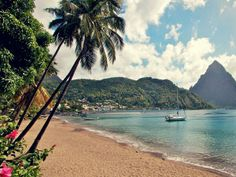 Beach paradise in St. Lucia.
