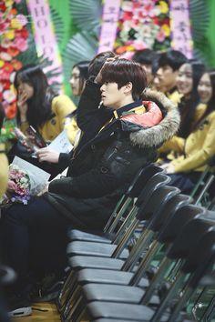 160204 Smrookies Jaehyun at SOPA Jaehyun's Graduation