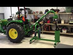 Storage and Handling Stand for Post Hole Auger Jd Tractors, Small Tractors, John Deere Tractors, Compact Tractor Attachments, Garden Tractor Attachments, Small Garden Tractor, Sub Compact Tractors, Garage Pictures, Tractor Accessories