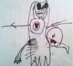 Creepy Drawings by Kids Who May or May Not Be Disturbed 9 Creepy Kids Drawings, Cartoon Drawings Of Animals, Funny Drawings, Easy Drawings, Cartoon Drawing Tutorial, Cartoon Girl Drawing, Anime Poses Reference, Scary Art, Art Themes