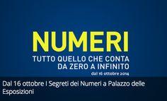 Dal 16 ottobre I Segreti dei Numeri a Palazzo delle Esposizioni.