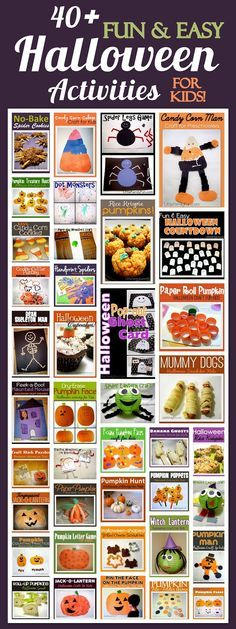 Little Family Fun: 40+ Halloween Activity Ideas for Kids! Fun and easy!