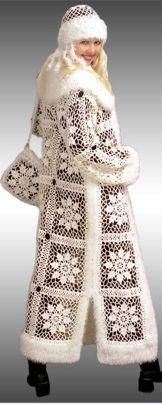 beautiful Crochet coat for Women wow Crochet Coat, Crochet Lace Dress, Crochet Jacket, Knitted Coat, Crochet Cardigan, Crochet Yarn, Crochet Clothes, Coat Patterns, Crochet Fashion