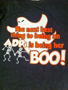 Alpha Delta Pi date party shirts.