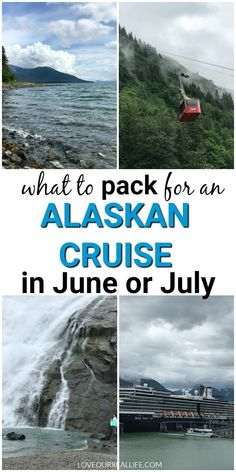 Alaskan Cruise - What to Items You Need! ⋆ Love Our Real Life Wondering what to wear on your Alaskan cruise? See my top must have items to pack for an Alaskan cruise in June or July. Alaska can bring lots of different weather conditions, so be prepared! Packing For Alaska, Alaska Cruise Tips, Packing List For Cruise, Alaska Travel, Cruise Travel, Cruise Vacation, Alaska Trip, Usa Travel, Disney Cruise Alaska