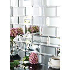 mirror beveled tile