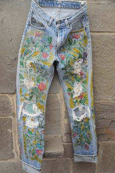 Hand-Painted Vintage Levi's on Etsy, $55.00