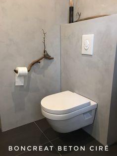 Boncreat Beton Cire by Boncreations Tiny Bathrooms, Rustic Bathrooms, Cellar Design, Bathtub Shower, Downstairs Bathroom, Suites, Minimalist Home, Interior Design Living Room, Home Remodeling