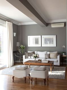 Cómo renovar tu casa en solo un fin de semana Casas pintadas interior Paredes grises decoracion Interiores de casa