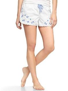 Embroidered poplin shorts | Gap