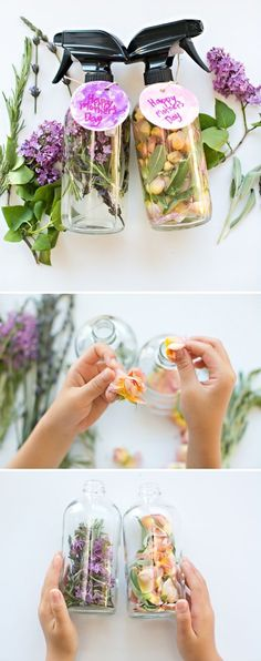 Kid-Made DIY Floral and Herb Perfume. Great idea for Mother's Day! Also a fun plant and flower craft for kids. You are in the right place about DIY Mothers Day brunch Here we offer you the most beauti Perfume Hermes, Perfume Versace, Kids Perfume, Mothers Day Crafts For Kids, Crafts For Kids To Make, Kids Crafts, Kids Diy, Mothers Day Plants, Holidays Events