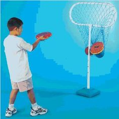Physical Education Games Disc Golf - Target Hoop.... maybe I can make this with pvc pipe and netting!