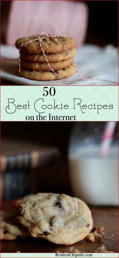 50 of the best cookie recipes on the Internet or anywhere! Everything from chocolate chip cookies to unique bar cookie recipes! From http://RestlessChipotle.com