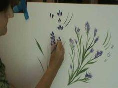 Disfruta pintando flores 2 b - YouTube