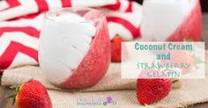 Coconut Cream and Strawberry Gelatin (Paleo and Dairy Free) - Holistically Engineered
