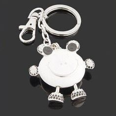 Fashion Keychain, Small Orders Are Welcome, Made of Rhinestones and Enamel