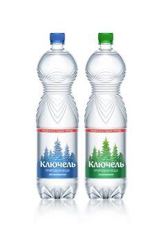 Kluchel natural spring water. Bottled water #packaging #design #bottle #water Ключель