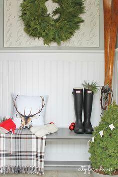 City Farmhouse (Farmhouse Christmas)  Mudroom Tour