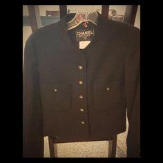 Black CHANEL Blazer Black CHANEL blazer. Excellent condition. B0739 CHANEL Jackets & Coats Blazers