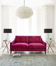 Seating - Deep Dream Sofa Collection I Graham and Green - pink velvet sofa, modern pink velvet sofa, fuchsia pink velvet sofa, contemporary pink velvet sofa, Living Room Colors, Living Room Sets, Living Room Designs, Living Room Decor, Sofa Living, Pink Velvet Sofa, Pink Sofa, Sofa Design, Ikea Sofas