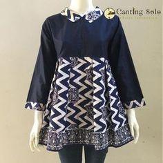 Batik cap remek an Model Dress Batik, Batik Dress, Designer Kurtis, Batik Muslim, Outer Batik, Batik Blazer, Batik Solo, Batik Kebaya, Mode Abaya