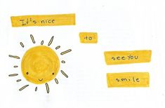Sunshine and Honey Pots Pretty Words, Beautiful Words, Make Me Happy, Make Me Smile, Happy Sun, Alphabet Tag, Jandy Nelson, Happy Colors, Mellow Yellow