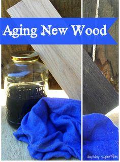 Aging New Wood with Vinegar & Steel Wool ~ DIY Friday