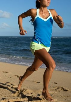 Run on the beach and it's easy to cool off after in the ocean!