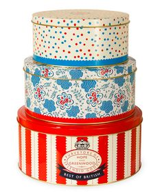 Set of Three Cake Tins by Hope & Greenwood by Designer tabletop featuring Jan Constantine on #zulilyUK today!